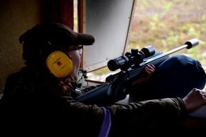 Karhumerkin ammunnan harjoittelua
